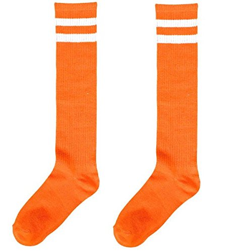 Orange Stripe Knee Socks, Party Accessory -
