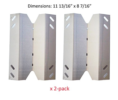 BBQ funland SH2021 (2-pack) Stainless Steel Heat Plate Replacement for Gas Grill Model Sams B10PG20-2C