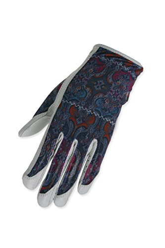 t Hand Solaire Full Length Golf Glove, Medium, Grey Mosaic ()