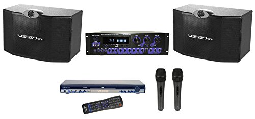 Brand New Vocopro Ktv-3808 Ii Packaged Top of the Line Expandable Karaoke System with 300 Watt Powered Karaoke Mixer + 2 Vocal/karaoke Speakers + Cd-g, Dvd Player + 2 Vocal/karaoke Microphones, + Speaker Cables