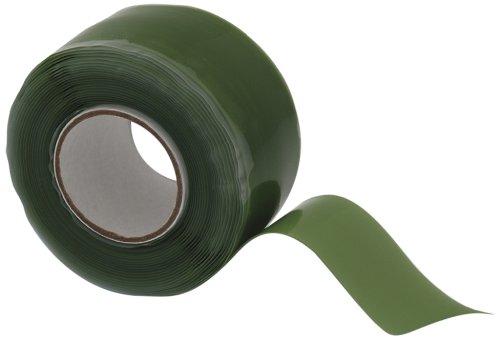 X-Treme Tape TPE-XZLGRN Silicone Rubber Self Fusing Tape, 1 x 10, Triangular, Green