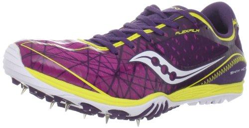 Saucony Women's Shay XC3 Spike Running Shoe,Purple/Yellow...