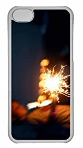 Customized iPhone 6 PC Transparent Case - Sparkler Bokeh Personalized Cover