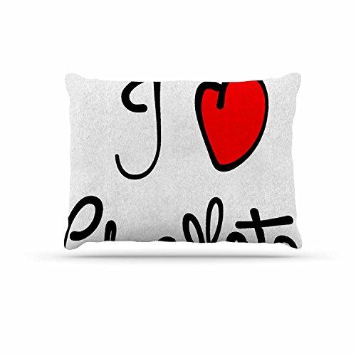 KESS InHouse Gabriela Fuente ''I Love Chocolate'' Food Typography Dog Bed, 30'' x 40'' by Kess InHouse