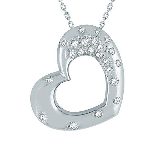 Giantti Diamant Pendentif Femme Collier (0.3277CT, VS Clarté, Gh-colour)