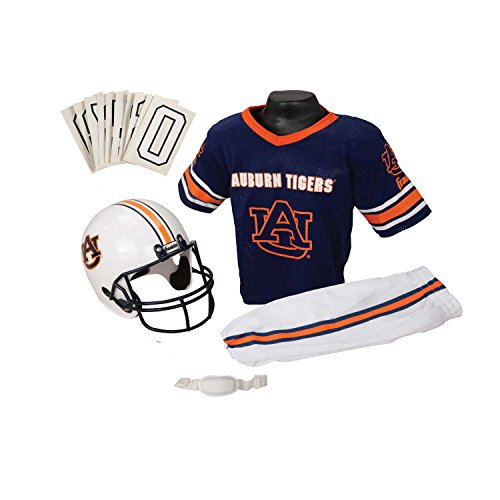 Franklin Sports Auburn Deluxe Uniform Set - (Child Football Player Halloween Costume)
