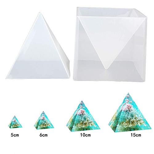 Pyramid Candle Mold - Mayitr 1pc Super Pyramid Silicone Mould Resin Craft Jewelry Crystal Mold + Plastic Frame