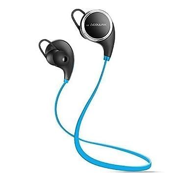COULAX QY8 Auriculares Inalámbricos Cascos Deportivos Bluetooth 4.1 de Manos Libre Estéreo Resistentes al Sudor con
