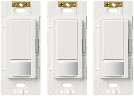 Lutron Ms Ops5m Wh 3 Maestro Sensor Switch Maestro 5a Single Pole Multi Location Motion Sensor Switch For Lights Exhaust Fans 3 Pack White Amazon Com