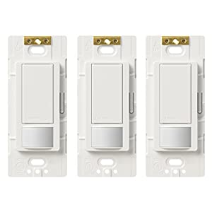 amazon com lutron ms ops5m wh 3 maestro sensor switch maestro 5a lutron ms ops5m wh 3 maestro sensor switch maestro 5a single pole multi location motion sensor switch for lights exhaust fans 3 pack white