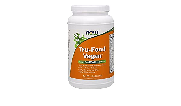 Now Foods TRU-FOOD VEGAN 1Kg - Proteínas veganas, vitaminas ...