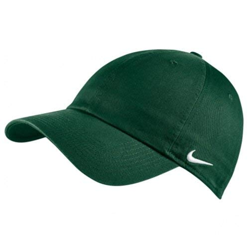 Nike Unisex Six-Panel Adjustable Team Campus Cap, Dark Green