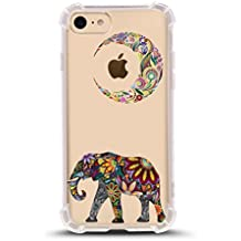 iPhone 7 Shock Absorbent Case (4.7 inch screen), Moon Elephant Design