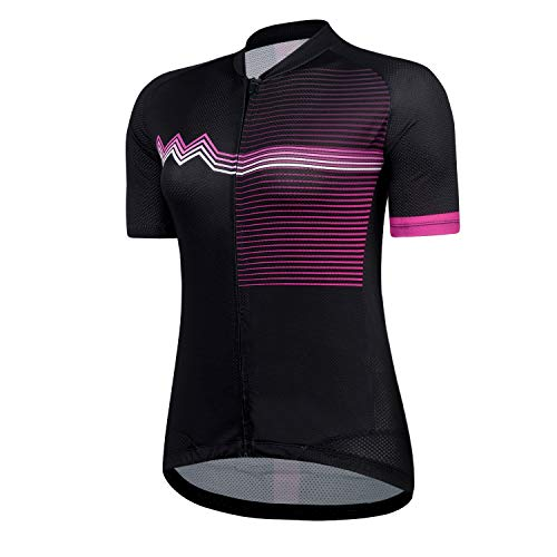 - Cycling Jersey Women's Short Sleeve Bike Biking Shirts Full Zip Bicycle Tops Cycling Clothes with 3 Pockets(PurpleL,L)