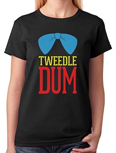Tweedle Dum - Funny Matching Couples Gift Women's T-Shirt Medium Black
