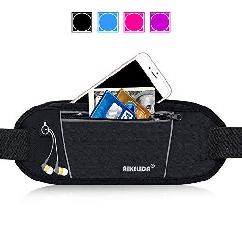 - AIKELIDA Running Belt/Fanny Pack/Fitness Belt/Waist Pack for iPhone, Samsung Edge/Note / Galaxy - Men, Women During Sports Fitness, Running, Cycling, Hiking, Travel, Workout - Black