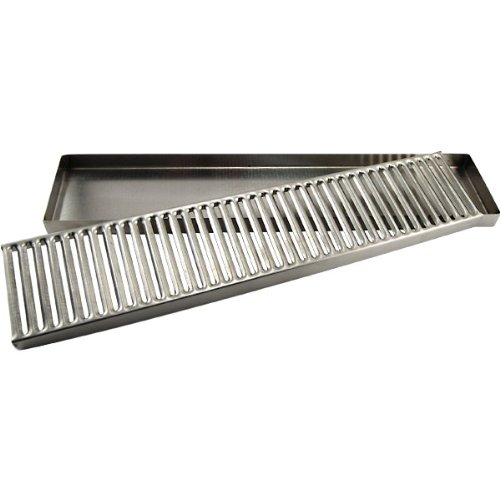 Kegerator Countertop Drip Tray - 19'' - Stainless Steel