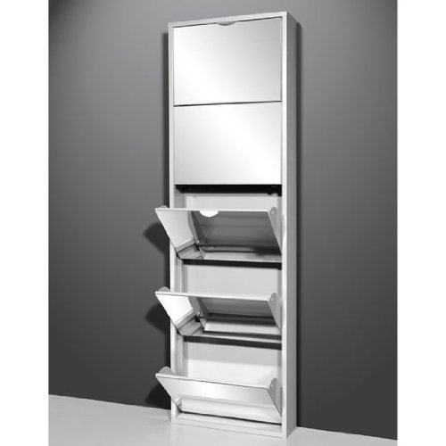 Wondrous Tall Mirrored Metal Shoe Cabinet With Five Drawers 5265 74 Download Free Architecture Designs Grimeyleaguecom