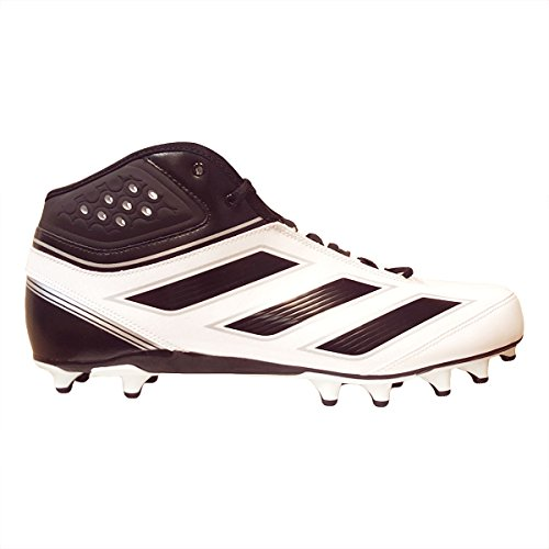 adidas Men's Malice 2 Fly Football Cleats (13, Running White/Black/Metallic Silver)