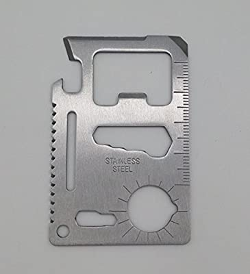 Simple Future 11 in 1 Credit Card Wallet Knife Stainless Steel Survival Multitool Utility Perfect Tool for Bug Out Bag, Camping or Fishing from Simple Future