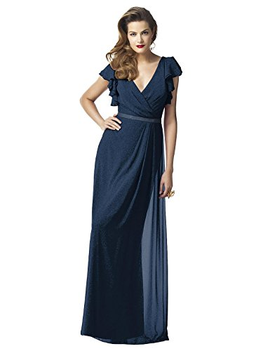 (Dessy Collection Bridesmaid Dress Style 2874 - Midnight Gold - Size 6)