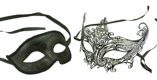 Kayso Inc Original Lover's Collection - Couple's Masquerade Mask Set, XXVII