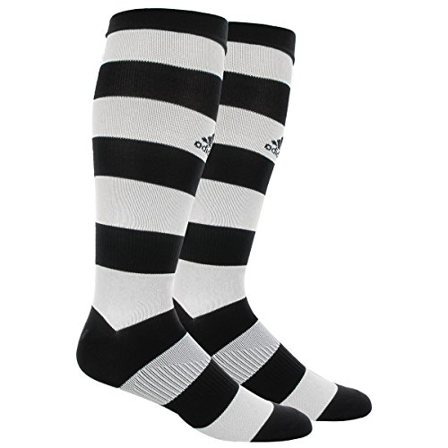 adidas Metro Hoop Soccer Socks, Black/White, Medium