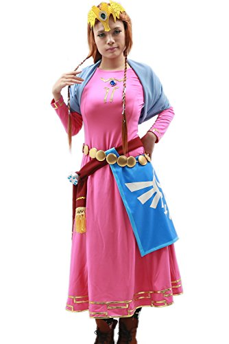 Halloween Women's Princess Cosplay Costume Outfits Suit New (Princess Zelda Costumes For Adults)