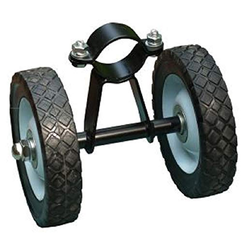 (The Hamptons Collection Black Hammock Steel Wheel Kit Assembly with Rubber Wheels)