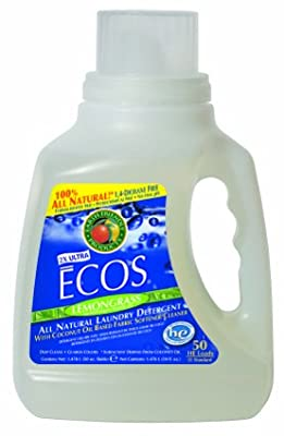 Earth Friendly Products Ecos Liquid Laundry Detergent, Lemongrass, 50 Ounce