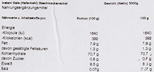 Myprotein Instant Oats Geschmackneutral, 1er Pack (1 x 5 kg)