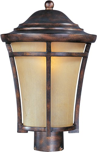 Maxim 40160GFCO Balboa VX 1-Light Outdoor Pole/Post Lantern, Copper Oxide Finish, Golden Frost Glass, MB Incandescent Incandescent Bulb , 100W Max., Dry Safety Rating, Standard Dimmable, Glass Shade Material, 5750 Rated Lumens