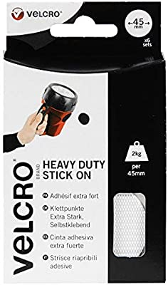 VELCRO® Brand 45mm Heavy Duty Stick On Self Adhesive Hook and Loop Pad Coin