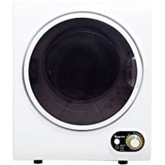 The Magic Chef 1.5 cu. ft. compact electric dryer is just what you need when you have small laundry loads and do not have tons of space for a laundry setup. Its compact, space-saving design makes it perfect for apartments, dorms or even RVs. ...