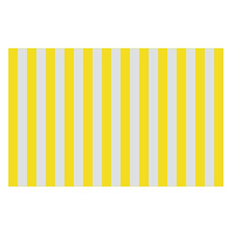 (Binory US Fast Shipment Beach Towels for Travel with Storage Bag 5.57x2.95inch, Microfibre Stripe Pattern Quick Dry Kids Adults Beach Blanket|Bath Mat|Swimming Pool Cushion|Stroller Matress (Yellow))