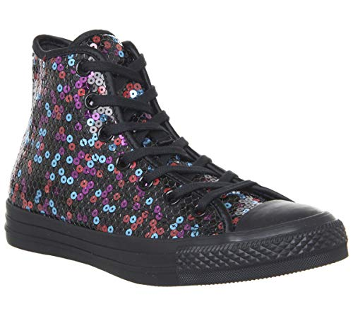 Converse Athletic Sneakers - Converse Chuck Taylor All Star Hi Women's Shoes Black/Blue/Cherry Red 562443c (8 B(M) US)