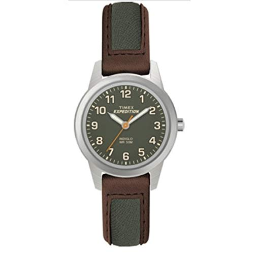 Green Leather Strap - Timex Expedition Field Mini 26mm Leather Strap |Brown| Sport Watch TW4B12000