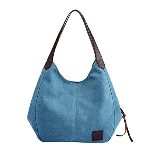 Shoulder Women's Handbags Handbag Hobos Blue Vintage Sumen Canvas Bags Single Zipper amp;Hasp 5ROxOzqt