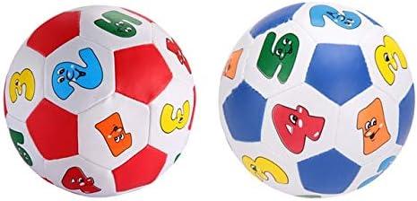 BeesClover - Pelota de fútbol con números arábigos, con Cascabel ...