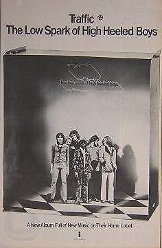 (Traffic Low Spark 1972 LP Album Promo Poster Newspaper Ad )