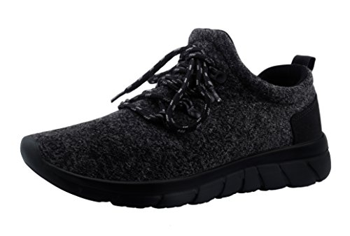 CHUI Mens Sneakers Trainers Running Basketball Walking Shoes For Men Black Training Fashion Sneakers.CSK009B1-41