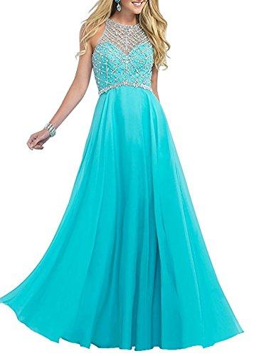 Achaestrella Vestido DeDama De Honor Vestido De Baile Banquete Completo Azul