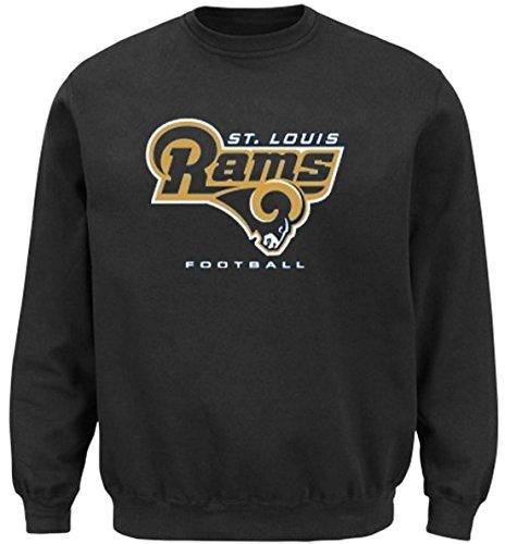St Louis Rams NFL Men's Critical Victory Crewneck Sweatshirt Big & Tall Sizes (4XT)