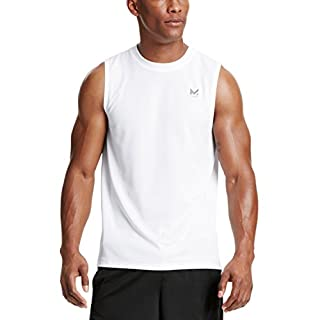 Men's White Sleeveless T-shirt