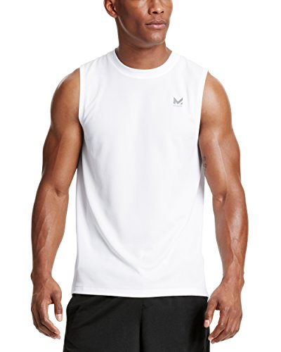 Mission Men's VaporActive Alpha Sleeveless T-Shirt, Bright White, Large