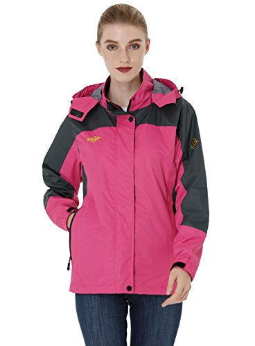 Con Rosa Ligera Chaqueta Impermeable Para Capucha Wantdo Contraviento Mujer awYAnq