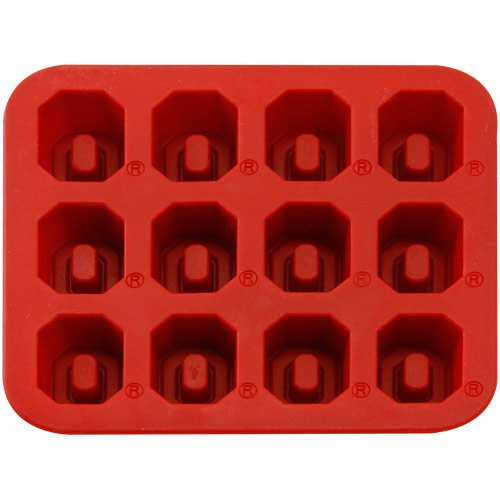NCAA Ohio State Buckeyes Ice Trays & Candy Mold, One Size, Red