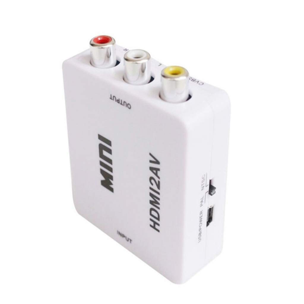 Catyrre HDMI auf AV Adapter Konverterkabel CVBS 3RCA 1080P Composite Video Audio f/ür TV