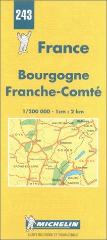 Carte Bourgogne Michelin.Michelin Bourgogne Franche Comte France Map No 243
