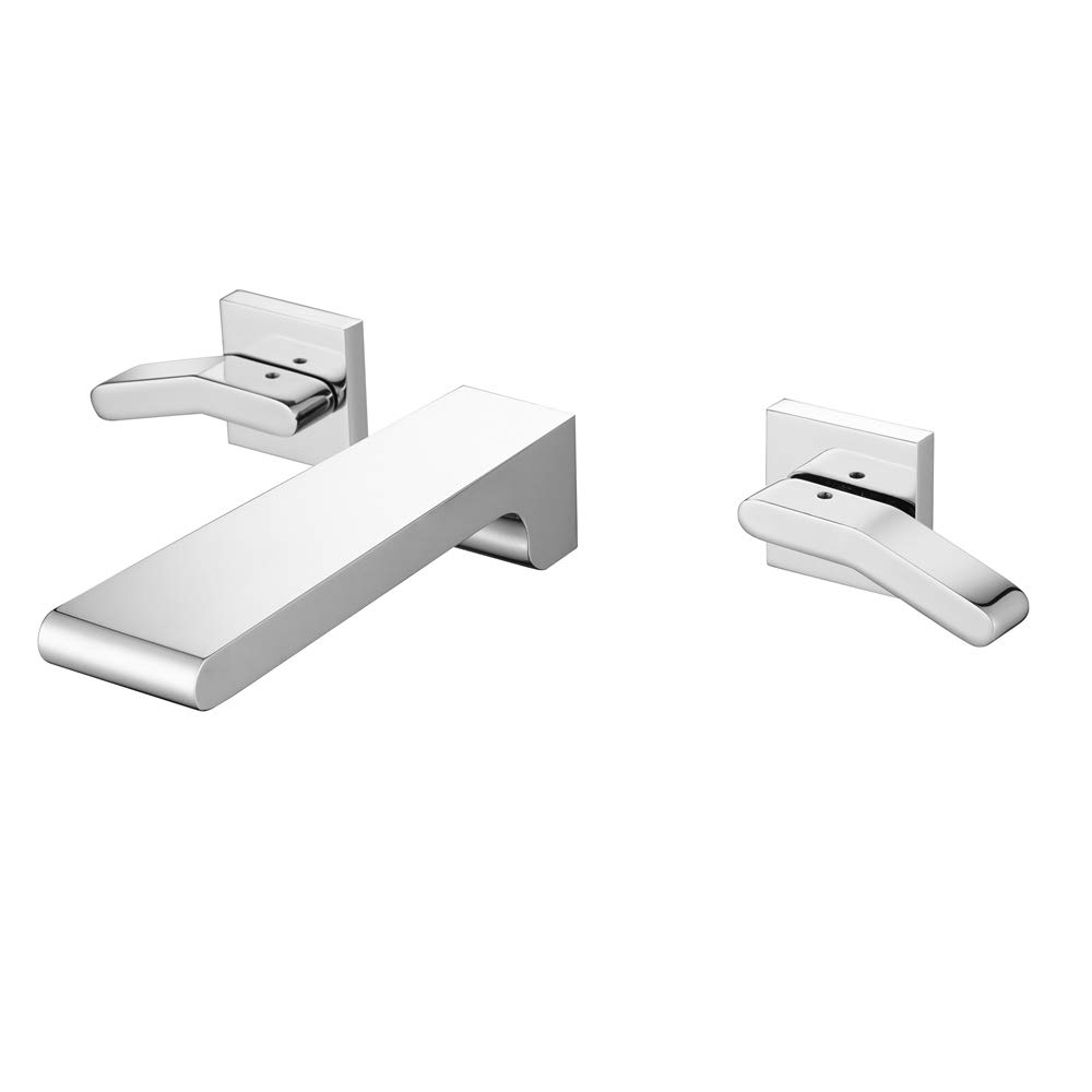 Modern Bathroom Sink Faucets Hot and Cold Water Wall Mounted Ceramic Valve Single Handle One Hole Basin Faucet